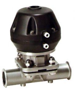 valvula de membrana con actuador